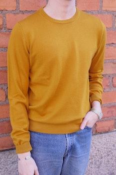 Crewneck Merino Pullover - Mustard Yellow