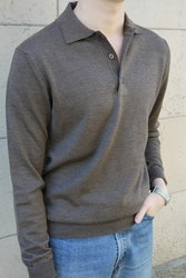 Polo Merino Pullover - Brown