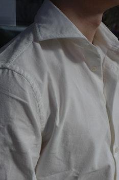 Babycord Shirt - Cutaway - Creme/Off White