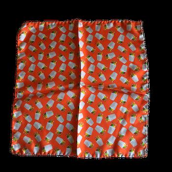 Bucket Silk Pocket Square - Orange