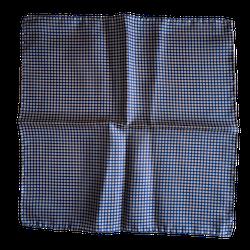 Floral Silk Pocket Square - Light Blue/Burgundy/Navy Blue