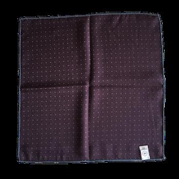 Medallion/Pin Dot Silk Pocket Square - Light Blue/Beige