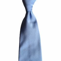 Solid Rep Silk Tie - Light Blue