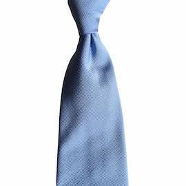 Solid Rep Silk Tie - Light Blue