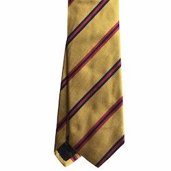 Regimental Rep Silk Tie - Yellow/Navy Blue/Burgundy