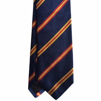 Regimental Rep Silk Tie - Navy Blue/Red/Yellow
