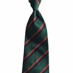 Regimental Rep Silk Tie - Green/Navy Blue/Red/Yellow