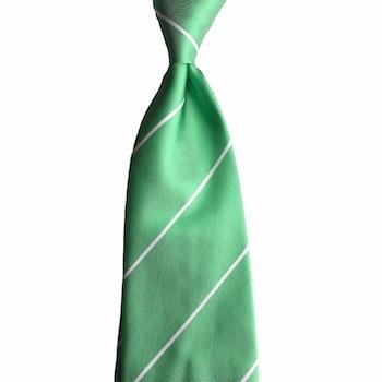 Regimental Rep Silk Tie - Mid Green/White/White