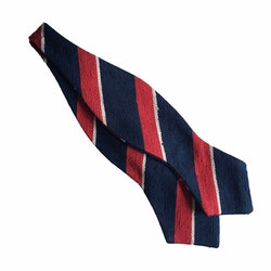 Regimental Shantung Diamond Bow Tie - Navy Blue/Red/White