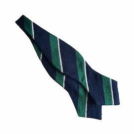 Regimental Shantung Diamond Bow Tie - Navy Blue/Green/White