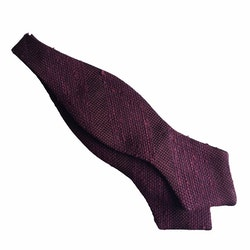 Regimental Shantung Grenadine Diamond Bow Tie - Burgundy
