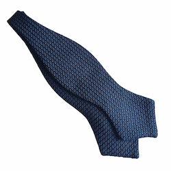 Semi Solid Grenadine Diamond Bow Tie - Mid Blue/Orange