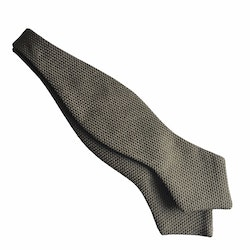 Solid Grenadine Fina Diamond Bow Tie - Olive Green