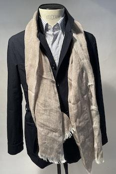Safari Seersucker Cotton Jacket - Unconstructed - Navy Blue