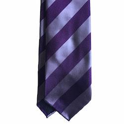 Regimental Silk Tie - Untipped - Purple
