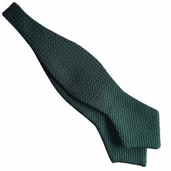 Solid Grenadine Grossa Diamond Bow Tie - Dark Green