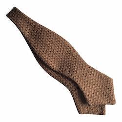 Solid Grenadine Grossa Diamond Bow Tie - Nougat