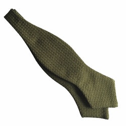 Solid Grenadine Grossa Diamond Bow Tie - Light Olive Green