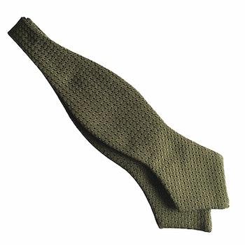 Solid Grenadine Grossa Diamond Bow Tie - Light Olive Green