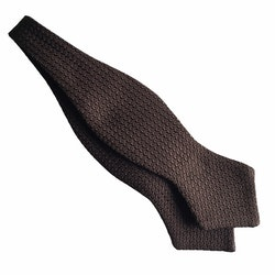 Solid Grenadine Grossa Diamond Bow Tie - Brown
