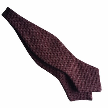 Solid Grenadine Grossa Diamond Bow Tie - Bourgogne