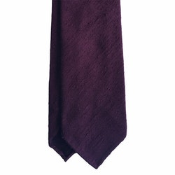 Solid Shantung Tie - Untipped - Burgundy