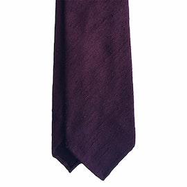 Solid Shantung Tie - Untipped - Burgundy