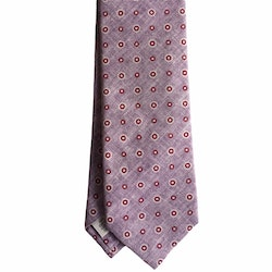 Floral Cotton Tie - Pink/Red