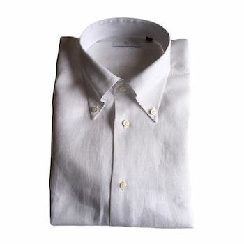 Solid Linen Shirt - Button Down - White