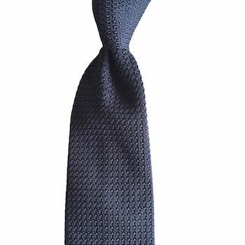 Solid Silk Grenadine Grossa Tie - Steel Blue