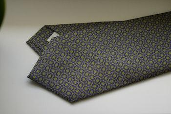 Micro Printed Silk Tie - Green/Purple