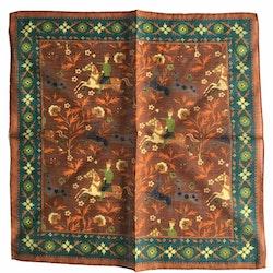 The Hunt Linen/Cotton Pocket Square - Brown/Green/Orange/Yellow