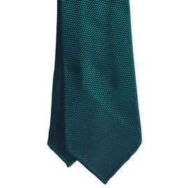 Solid Silk Grenadine Tie - Untipped - Green