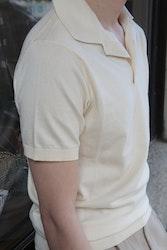 Pima Cotton Short Sleeve Polo - Cream