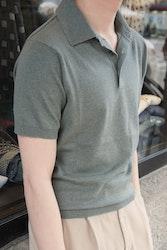 Pima Cotton Short Sleeve Polo - Light Olive Green