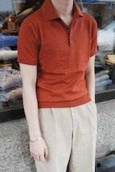Pima Cotton Short Sleeve Polo - Rust