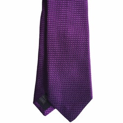 Solid Textured Silk Tie - Dark Purple