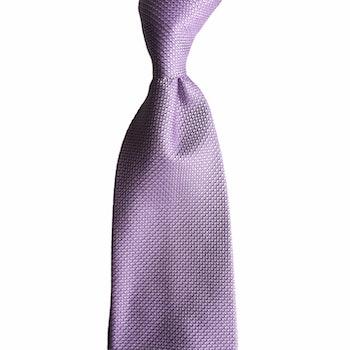 Solid Textured Silk Tie - Light Purple