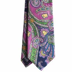 Paisley Silk Tie - Pink/Green/Yellow