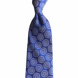 Medallion Printed Silk Tie - Light Blue