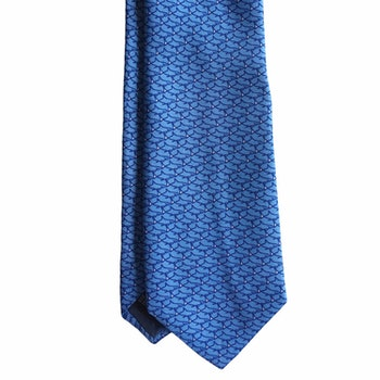 Shark Printed Silk Tie - Light Blue
