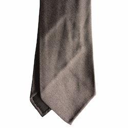 Solid Rep Silk Tie - Untipped - Beige
