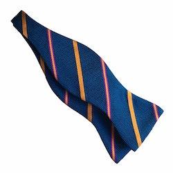 Regimental Grenadine Bow Tie - Petrol/Orange/Purple