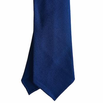 Solid Linen Tie - Untipped -Navy Blue