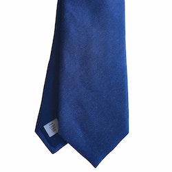Solid Linen Tie - Navy Blue