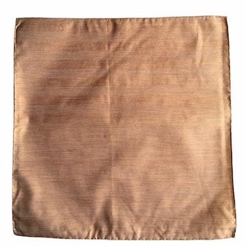 Solid Silk/Linen Pocket Square - Light Orange