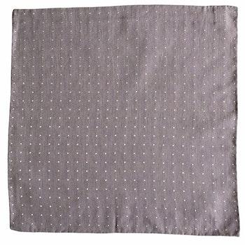 Polka Dot Donegal Silk Pocket Square - Purple/White