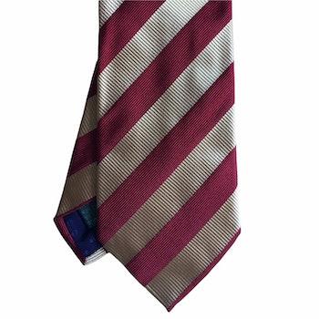 Regimental rep Silk Tie - Gold Yellow/Red