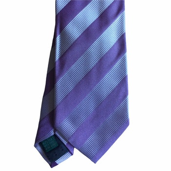 Regimental rep Silk Tie - Light Purple