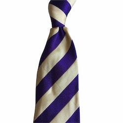 Regimental rep Silk Tie - Dark Purple/Yellow
